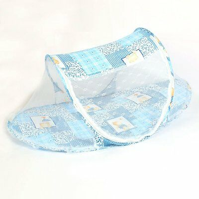 Foldable Kids Infant Baby Safty Mosquito Net Crib Bed Playpen Play Tent Blue WK