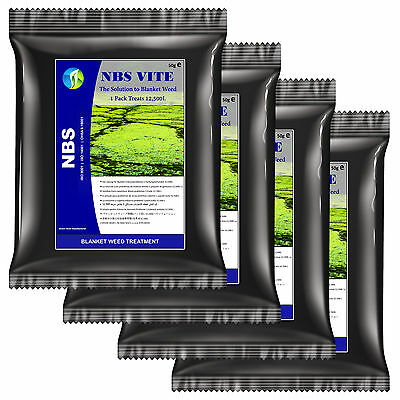 Blanket Weed Treatment NBS VITE 4 PACK Koi Pond Green Algae Remover - Clear Pond