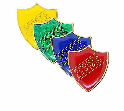 Sports Captain Shield School Enamel Badge