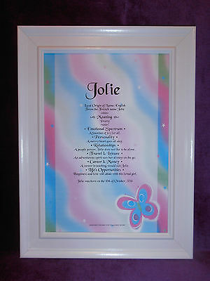 Baby's Name Meaning Certificate Boys & Girls Christening Baptism Naming Day Gift