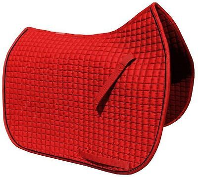 Red Dressage Saddle Pad w/Black Piping |  by PRI Pacific Rim