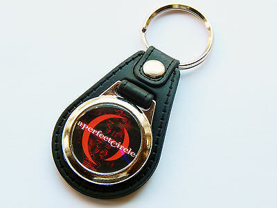 A PERFECT CIRLCE Rock Metal Band Premium Leather & Chrome Keyring