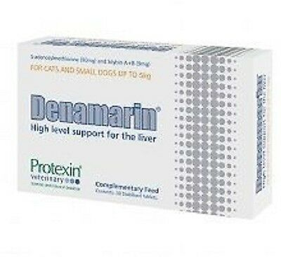 Protexin Denamarin Liver Supplement for Small Dogs & Cats, 90mg x 30