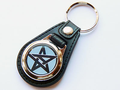 ANTHRAX Heavy Metal Band Premium Leather & Chrome Keyring