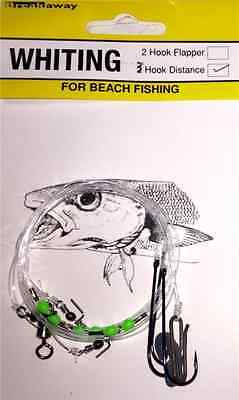 NEW Breakaway Sea Fishing Tackle 3 Hook Distance Whiting Rig