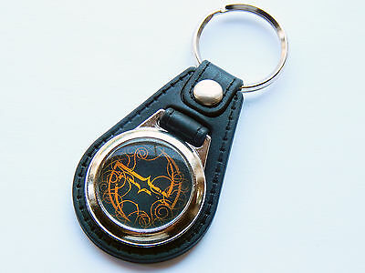 EVANESCENCE Rock Metal Band Premium Leather & Chrome Keyring