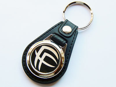 FEAR FACTORY Heavy Metal Band Premium Leather & Chrome Keyring