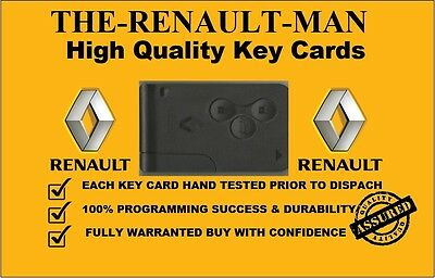 3 Button Key Card suitable for Renault Megane Scenic & Clio 2002-2008 No1 seller
