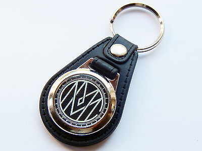 MARILYN MANSON Metal Band Initials Premium Leather & Chrome Keyring
