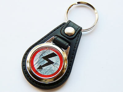 MARILYN MANSON Metal Band Antichrist Superstar Premium Leather & Chrome Keyring