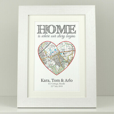 New home gift / Christmas present / first home present Personalised OS map VA093