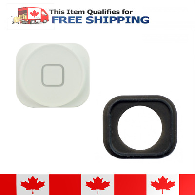 iPhone 5 White Home Button With Rubber Gasket
