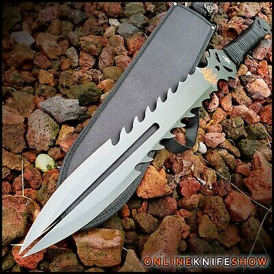 USMC MARINE TACTICAL MILITARY DAGGER Fixed Blade Survival Hunting Knife + SHEATH