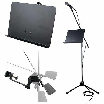 """Alctron MH-01 Universal Clamp On Music Mic Stand Attachment Tray 13.75"""" x 10.25"""""""