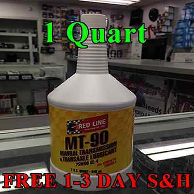 Red Line MT90 Synthetic Max Gear Transmission Oil GL-4 75W90 1 QUART #50304