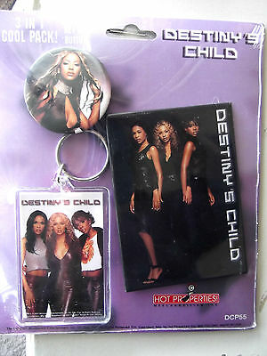 Destiny's Child~Beyonce~3 In 1 Cool Pack~Magnet, Keychain,button~