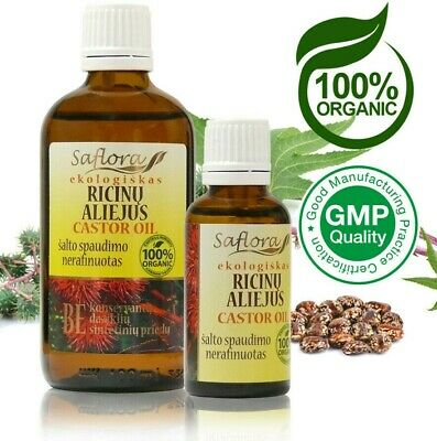 Castor Oil | 100% Pure Organic Virgin | Pharm. Grade