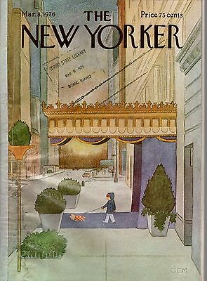 1976 New Yorker March 8 - Walking the Dachshund by CEM