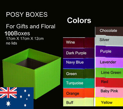 100X Posy Cardborad Gift and Flower Boxes 17X17X12cm post