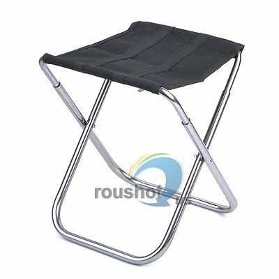Ultra Portable Folding Stool Chair Seat For Fishing Picnic Camping Outdoor
