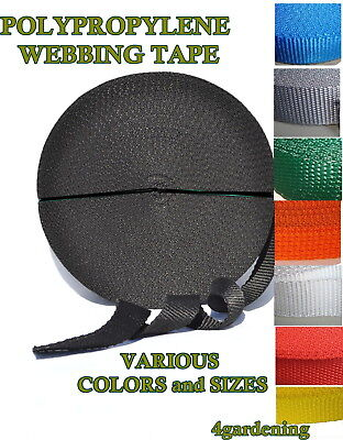 Polypropylene Webbing Strapping Tape Various Colors Sizes Lengths