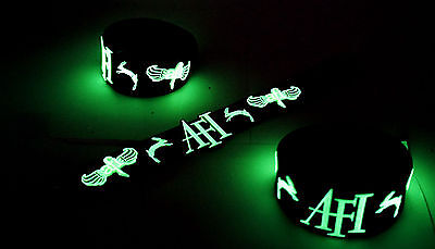 AFI NEW! Glow in the Dark Rubber Bracelet Wristband I Hope You Suffer vg240