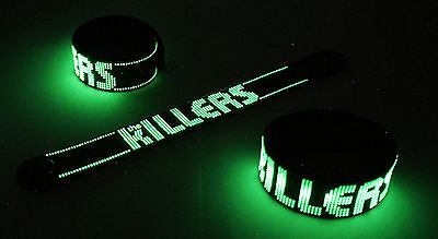 THE KILLERS NEW! Glow in the Dark Rubber Bracelet Wristband Battle Born  vg166