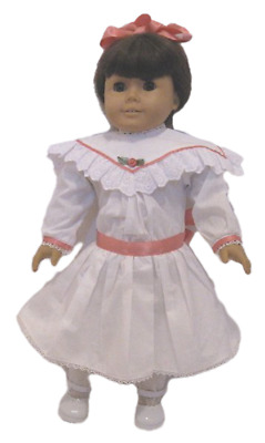 """Doll Clothes 18"""" Doll Victorian Dress White Fit American Girl Doll Samantha"""