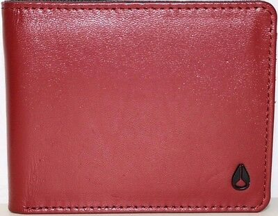 Authentic NIXON Statesmen Bi-Fold Leather Wallet. NWOT. RRP $39.99.