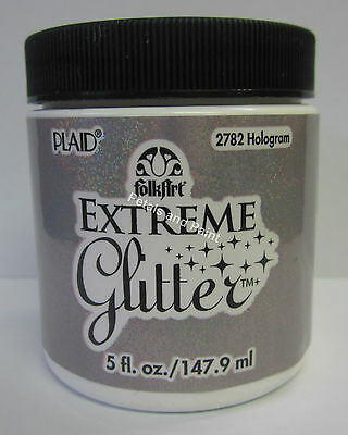 New Plaid Folk Art Extreme Hologram Glitter Acrylic Paint 5 fl.oz/147.9ml #2782