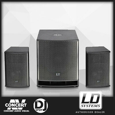 LD Systems Dave15-G3 Active 1400W PA Speaker and Subwoofer System - BRAND NEW