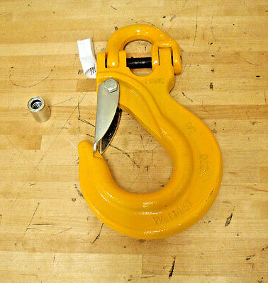 "3/4"" Alloy Steel Slip Hook, Half Link Attachment, 28,300 lb WLL, Grade 80"