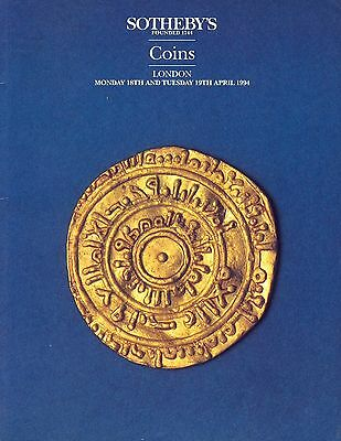 SOTHEBY'S Coins Historical Medals Banknotes London 18/19 April 1994 Sale LN4229