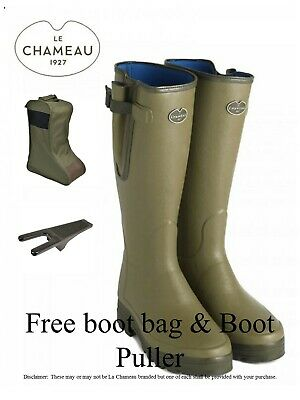 Le Chameau Vierzonord Neoprene Lined Wellies with free boot bag  (MMCS)