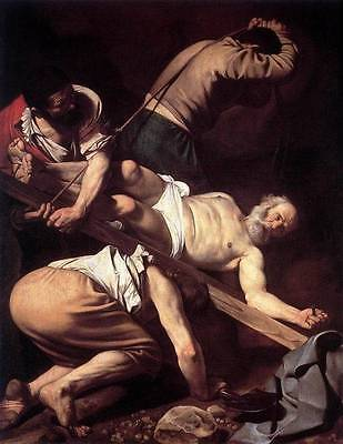 Ölbilder Ölgemälde Gemälde Caravaggio: The Crucifixion of Saint Peter. 60x80cm