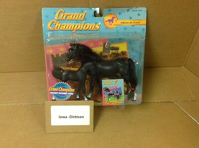 Grand Champions 1995 Black Quarter Mare & Foal 50019 Vintage New