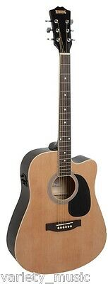 Redding Acoustic Electric Guitar, Spruce top, built in tuner. Natural