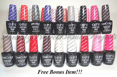 OPI GelColor Soak Off Gel Nail Polish LED/UV 100+ COLORS .5oz 100% Authentic NEW
