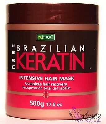 Brazilian Keratin Intensive Hair Mask Nunaat -Complete Hair recovery - 500 Grams