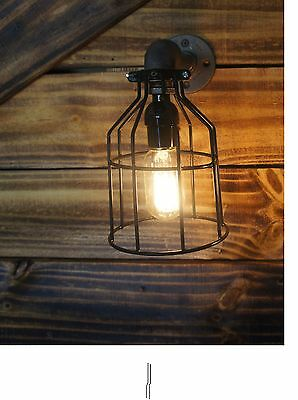 1- Edison Age Industrial Light sconce, pendant, Industrial Steampunk Pipe Light