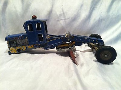 Collectible Vintage 1950's Early Hubley Diecast Road Grader Missing Rear Wheels