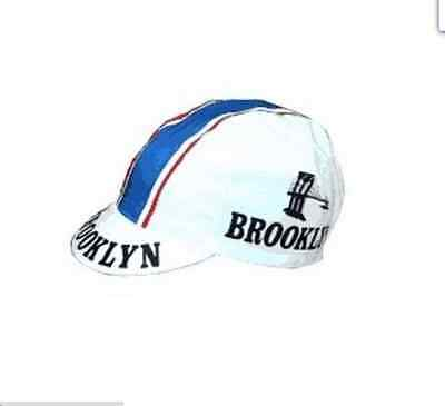 Brand new classic Brooklyn White cycling cap, Italian made Retro fixie.