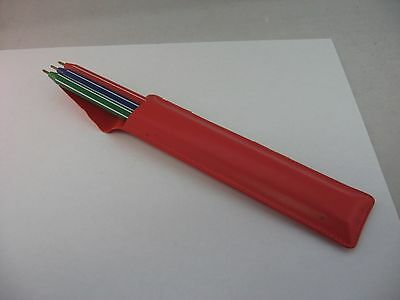 Non Working Set of Pens Vintage Red Vinyl 3 Pen Set GREETING FROM YOUR TEACHER