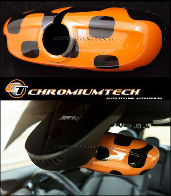 MK3 MINI F54 F55 F56 F57 F60 Vivid ORANGE Rear View Mirror Cover for Manual Dim