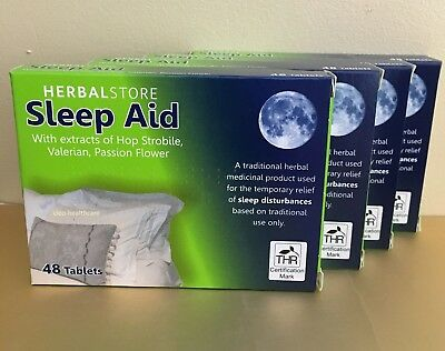 Strong HERBAL STORE SLEEP AID SLEEPING TABLETS ANXIETY ❤ Valerian Hops ❤1st P&P