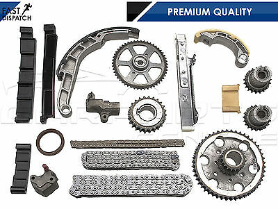 FOR ALMERA PRIMERA XTRAIL 2.2 DCi TIMING TENSIONER GUID PULLEYS RAIL CHAIN KIT