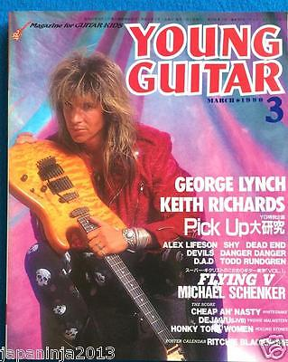 Young Guitar Japan Music Magazine 3/1990 George Lynch Keith Richards C.C.Devil