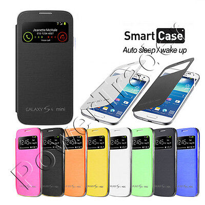 Samsung Galaxy S4 Mini i9190 S-VIEW Flip Case Battery Cover + Screen Protector