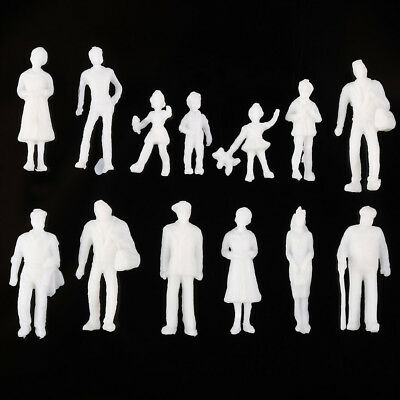 New 1:100 Scale Architecture Model White Figures / People - Pack of 100