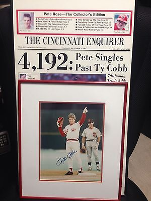Pete Rose Picture Lot Signed! Make Offers!